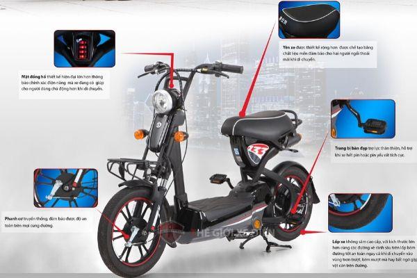 Cấu tạo cơ bản xe đạp điện