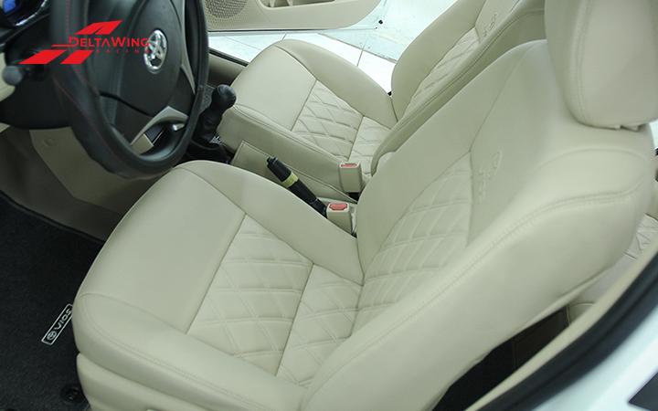 Bọc ghế da xe hơi Vios, i10, Morning, Innova vừa giúp sạch ghế, lại vừa sang